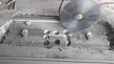 Concrete cutting openings in the ceiling