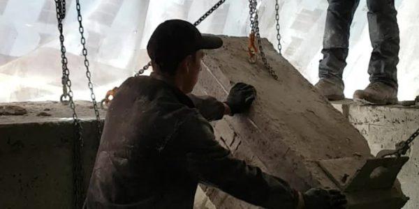 Демонтаж бетонного парапета